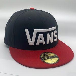 Vans New Era size 7 flat bill hat